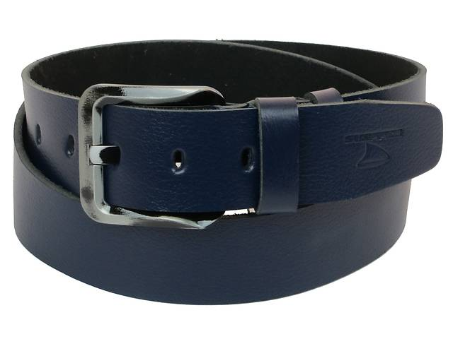 купить бу Мужской кожаный ремень под джинсы Skipper 1170-45 синий ДхШ: 132х4,5 см. в Киеве
