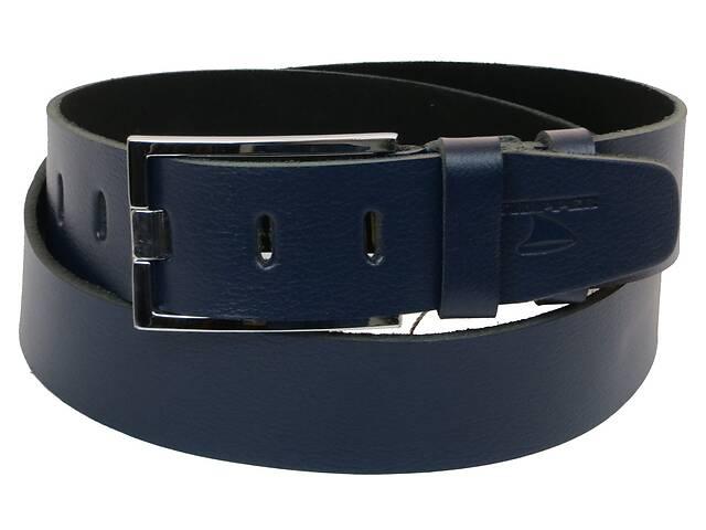 бу Мужской кожаный ремень под джинсы Skipper 1171-45 синий ДхШ: 132х4,5 см. в Киеве