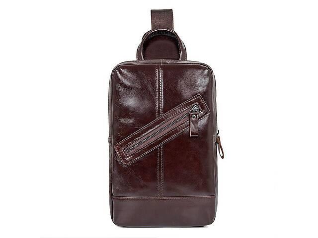 купить бу Мужской кожаный рюкзак на одно плечо John McDee 4010C JhnMcDJD4010C в Киеве