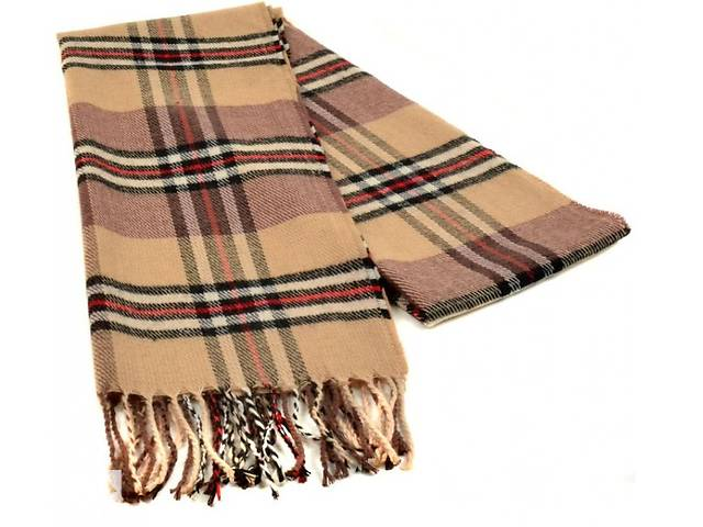 Мужской шарф 190 на 31 см 5014-11 бежевый- объявление о продаже  в Киеве