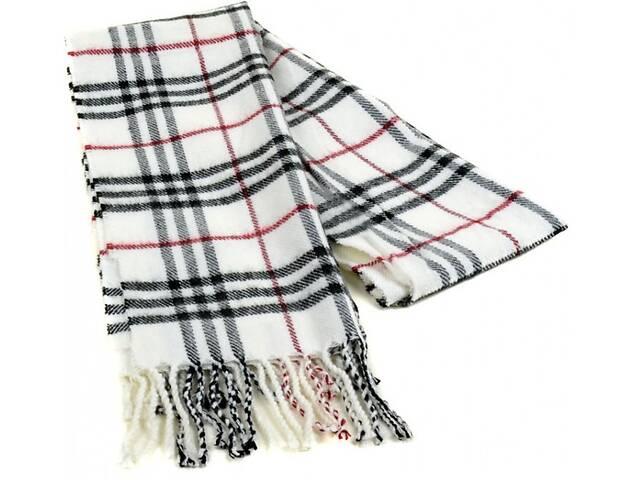 купить бу Мужской шарф 190 на 31 см 5014-7 белый в Киеве