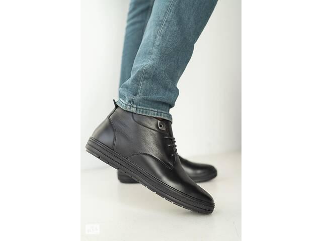 продам Мужские ботинки кожаные зимние черные Falcon 6020 бу в Хмельницком