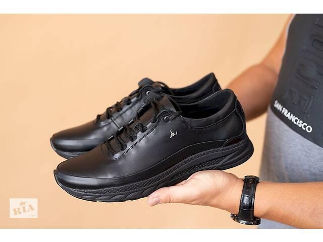 продам Мужские кроссовки кожаные весна/осень черные EXtrem 1851/035-01 бу в Хмельницком