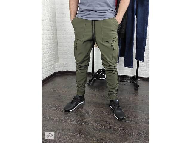 купить бу Мужские штаны карго SoftShell на флисе в Харькове