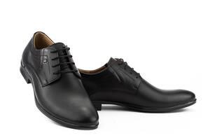 Чоловічі туфлі шкіряні весна/осінь чорні Stas 249-09-30