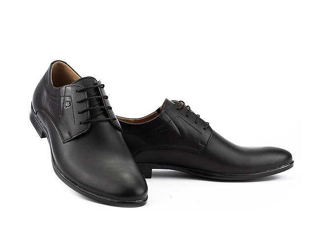 купить бу Мужские туфли кожаные весна/осень черные Stas 249-09-30 в Хмельницькому