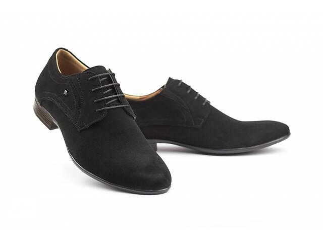 продам Мужские туфли замшевые весна/осень черные Stas 330-03-60 (43) бу в Одесі