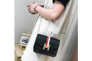 Милая женская сумка в стиле Гермес на цепочке
