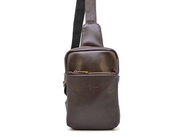 купить бу Мини-рюкзак из натуральной кожи на одно плечо  TARWA TRWGC-0204-3md в Киеве