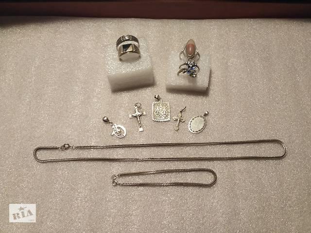 продам Набор украшений, подарок, серебро, сережки, кольцо, цепочка, цена за все бу в Киеве