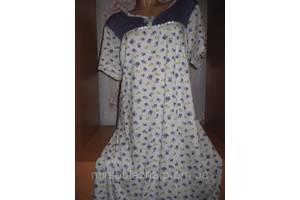 Ночная рубашка DOLLAR CLUB, 100% хлопок пр-во Узбекистан, размер 54-56, короткий рукав, 4 расцветки
