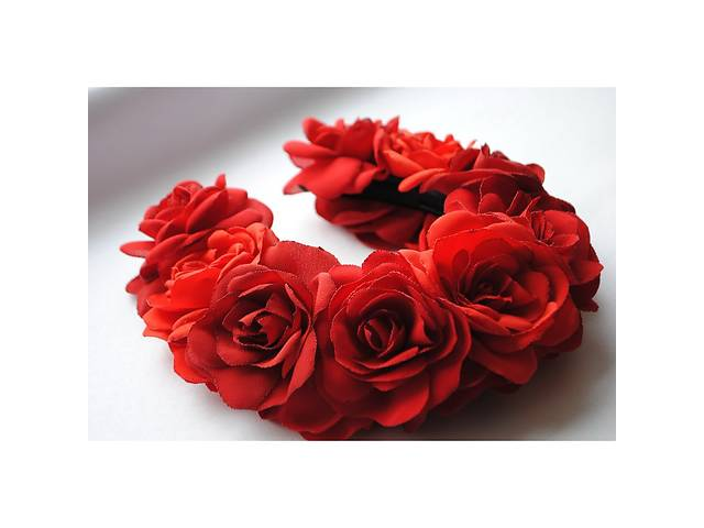 Ободок Червона троянда- объявление о продаже  в Чернигове