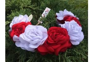 Ободок Красные и белые розы
