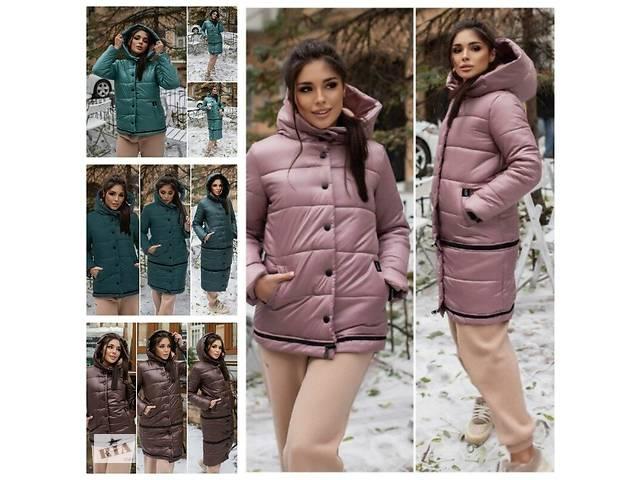 купить бу Оригинальное женское зимнее пальто трансформер по фигуре на силиконе 3 цвета в Харькове