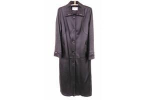 Пальто натуральна шкіра демісезонне чорне пальто розмір L (48-50)