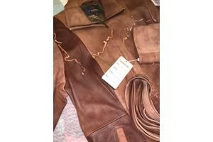 Пальто из эко-кожи