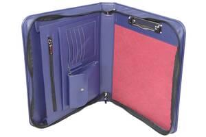 Папка-портфель деловая из искусственной кожи Portfolio синяя