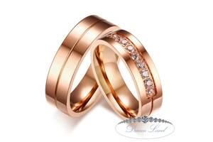 """Парные кольца с позолотой """"Желание"""" (жен. 18.2 муж.19.0)"""
