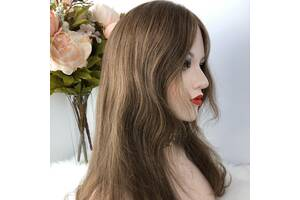 Парик из натуральных волос №79 — качественный натуральный парик как из славянских волос русый