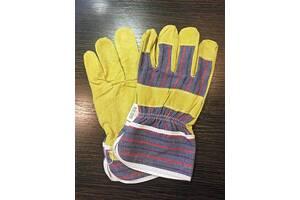 Перчатки кожаные C21 (Латвия) из свиного спилка