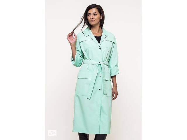 купить бу Плащ женский Victoria Bloom M-165 зеленый, размер 46 в Киеве
