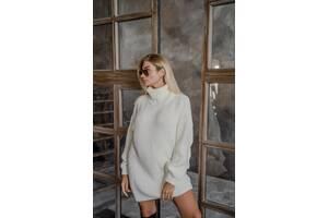 Платье-свитер вязка