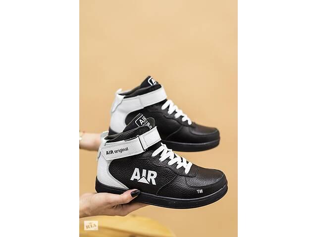 Подростковые кроссовки кожаные зимние черные-белые CrosSAV 333- объявление о продаже  в Хмельницком