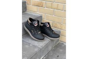 Подростковые кроссовки кожаные зимние черные Splinter Boy 1517 Sport Line
