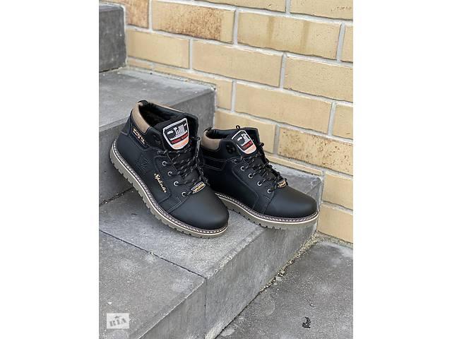купить бу Подростковые кроссовки кожаные зимние черные Splinter Boy 1517 Sport Line в Хмельницком