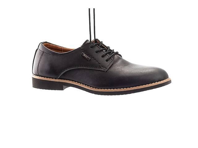 продам Подростковые туфли кожаные весна/осень черные Yuves М5 (Trade Mark) бу в Хмельницком