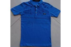 Поло батник футболка на мальчика 6,7,8,9,10 Турция хлопок