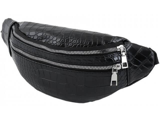 купить бу Поясная сумкаTrau из искусственной кожи, чёрная в Киеве