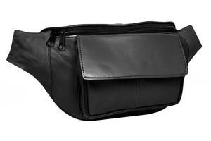 Поясная сумка из кожи Cavaldi 902-353 black, черная