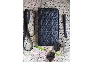 Продається темносиній клатч з екошкіри ручної роботи