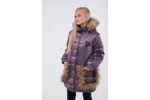 Продам стильную зимнюю куртку, натуральный мех!