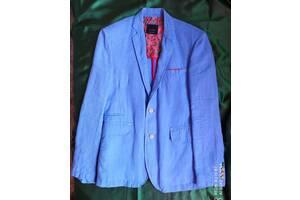 Пиджак Zara Зара льняной мужской размер М (48). Лен