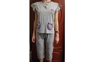 Піжама в сірих тонах з фіолетовими вкрапленнями (Baki collection)