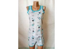 Пижамы женские хлопок Украина шорты майка р.44,46,48,50,52. От 5шт по 59грн