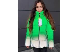 Рефлективная шикарнейшая зимняя куртка для девочки на тинсулейте 300 зима в минус 28