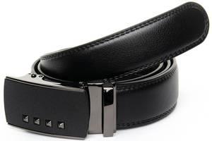 Ремень мужской кожаный Podium 3,5*120см черный
