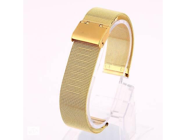 бу Ремешок для часов Mesh steel design bracelet Universal, 20 мм. Gold в Запорожье