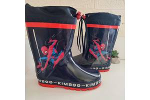 Гумові непромокальні чобітки від Kimboo зі Спайдермена Колір - синій