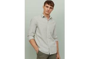 Рубашка h&m, Лен, хлопок, оригинал, L