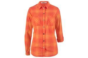 Рубашка ХБ, в клетку, нектариновый, мандариново-красный