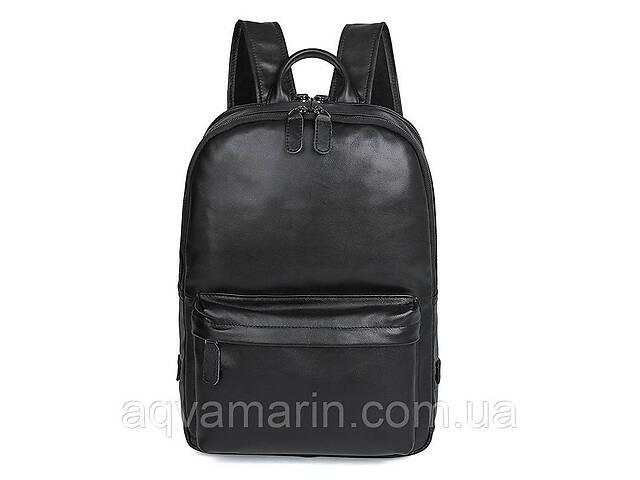 Рюкзак мужской кожаный городской BST 280053 45х12х30,5 см. черный- объявление о продаже  в Дубно