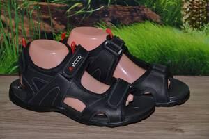 Сандалии кожа натуральная  М9 черные качество Ecco размеры 38 39 40 41 42 43 44 45