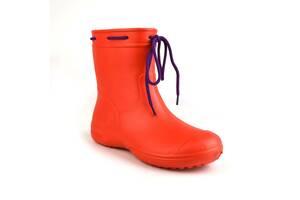 Сапоги женские резиновые EVA Jose Amorales с шнуровкой 39 р Красный (joa_119220_4)