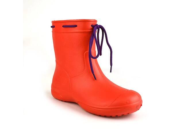 продам Сапоги женские резиновые EVA Jose Amorales с шнуровкой 39 р Красный (joa_119220_4) бу в Киеве