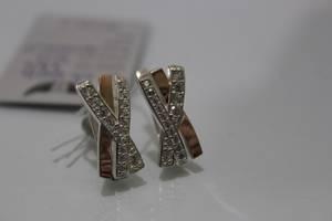 Серьги серебряные с золотой накладкой ch0014