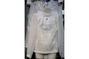 Школьная блуза для девочек 6- 12 лет, цвета разные, опт и розница